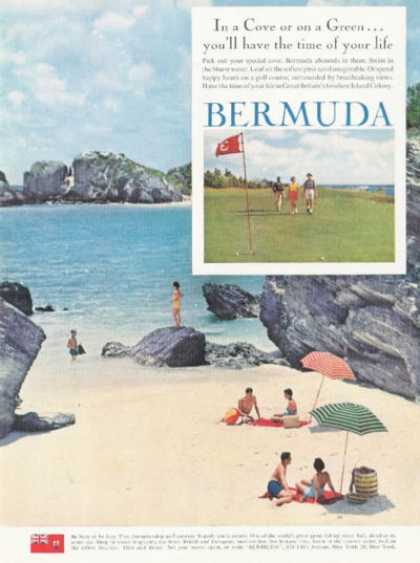 Bermuda Travel White Sand Beach Golf (1961)