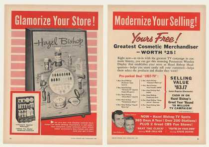 Hazel Bishop Cosmetics Display 2-Page Trade (1957)