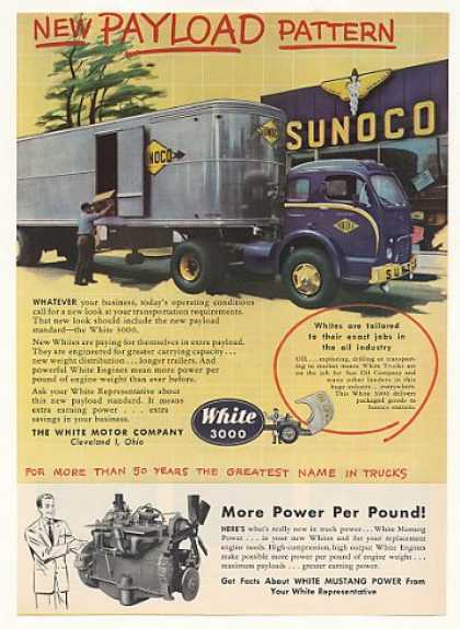 Sun Oil Co Sunoco White 3000 Truck (1953)