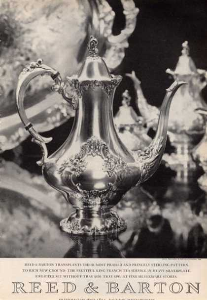 Reed & Barton Silverplate Tea Service Photo (1964)