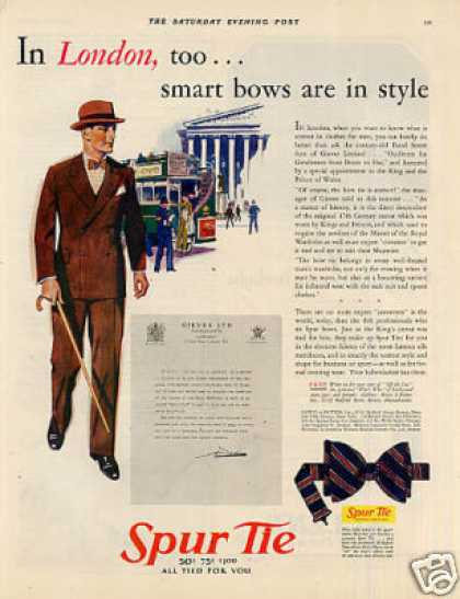 "Spur Tie Ad ""In London Too... (1930)"