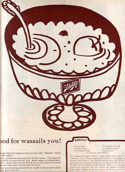 """Good for wassails you!"" (1963)"