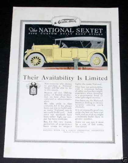 National Sextet Motor Car (1919)