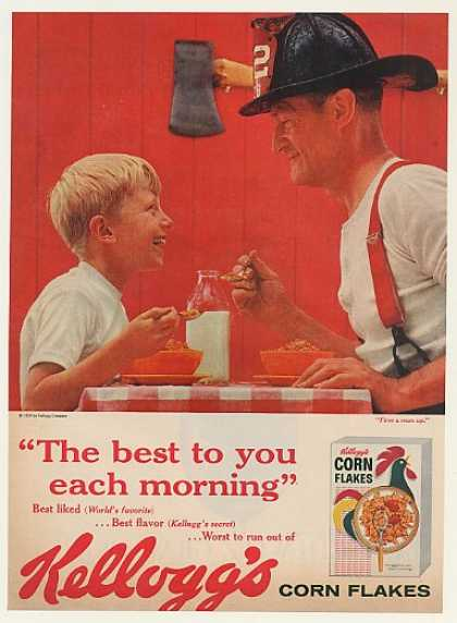 Boy and Fireman Kellogg's Corn Flakes (1959)