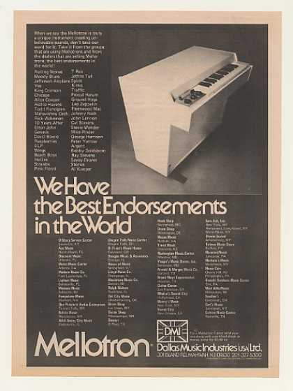 DMI Dallas Music Industries Mellotron Keyboard (1974)