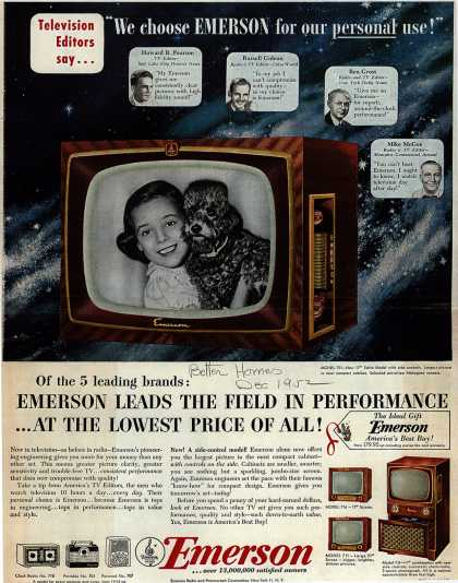 "Emerson Radio and Phonograph Corporation's Television – ""We choose Emerson for our personal use!"" (1952)"