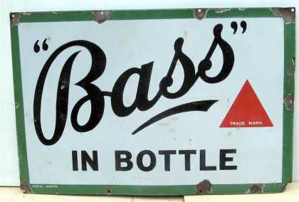 Bass in Bottle Ale Sign