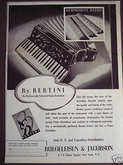Bertini Piano Accordians (1938)