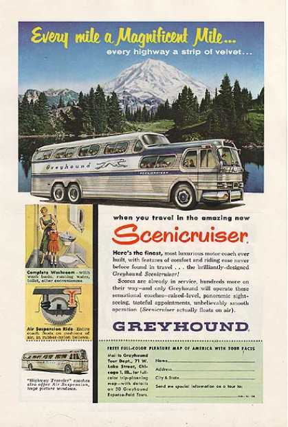 Greyhound's amazing new (1954)