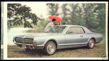 Mercury Cougar photo Ad & Separate 3-D Card (1967)