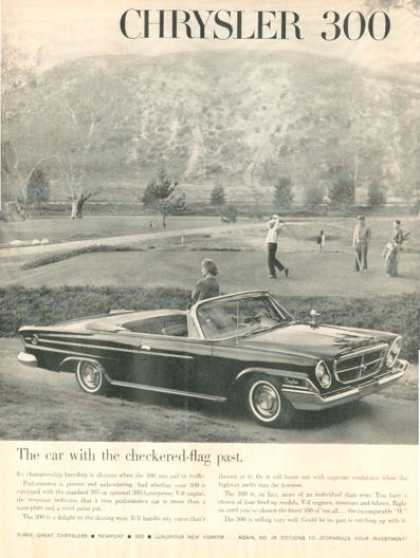 Chrysler 300 Convertible On Golf Course (1962)