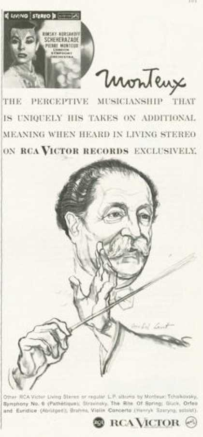 Rca Victor Records Ad Conductor Monteux (1959)
