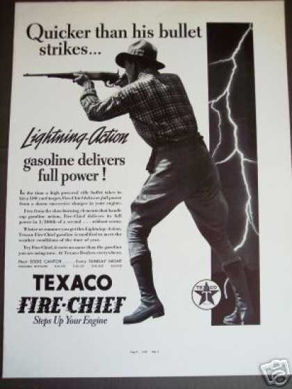 Texaco Fire-chief Gasoline Gas Rifle Shooter (1937)