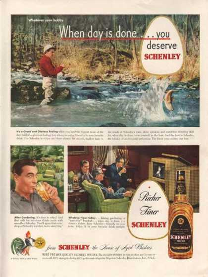 Richer Finer Schenley Whiskey (1949)