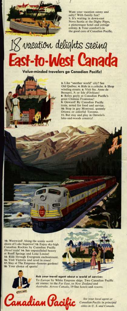 Canadian Pacific's Canada – 18 vacation delights seeing East-to-West Canada (1952)