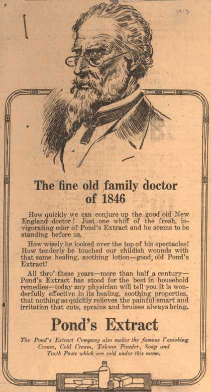 Pond's Extract Co.'s Pond's Extract – The fine old family doctor of 1846