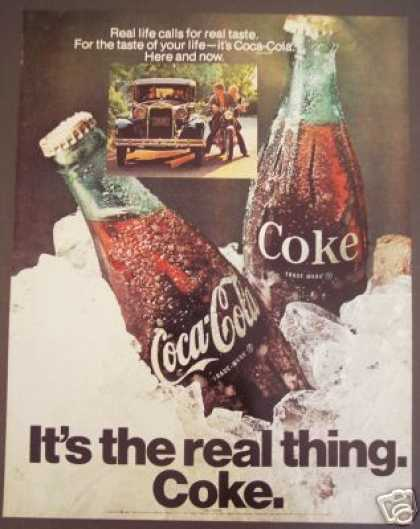 Coke Coca-cola Soda Ad Atique Car (1970)