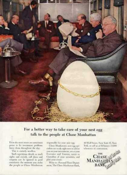 Chase Manhattan Bank Nest Egg Mens Club (1957)