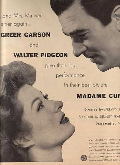 Madame Curie (Greer Garson and Walter Pigeon) (1943)