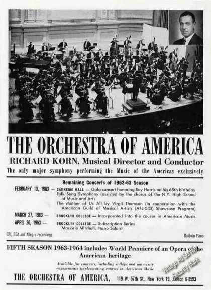 Orchestra of America/richard Korn Photo Trade (1963)