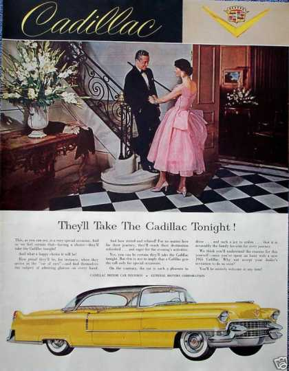 Cadillac Elegant Dress Couple They'll Take Tonight (1955)