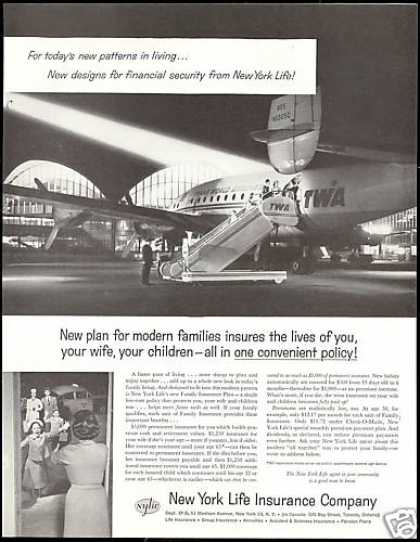 TWA Airlines Airplane Photo NY Life Insurance (1958)