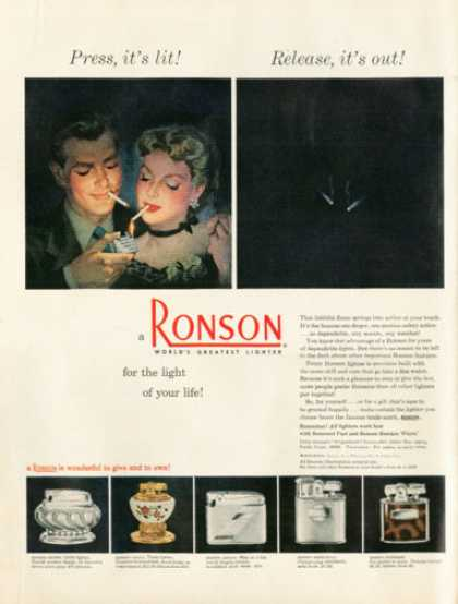 Ronson Lighters 5 Models (1950)