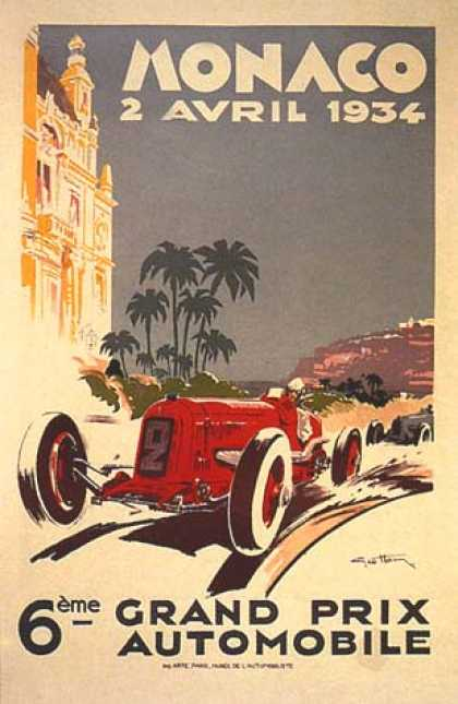 Monaco Grand Prix by Geo Ham (1934)