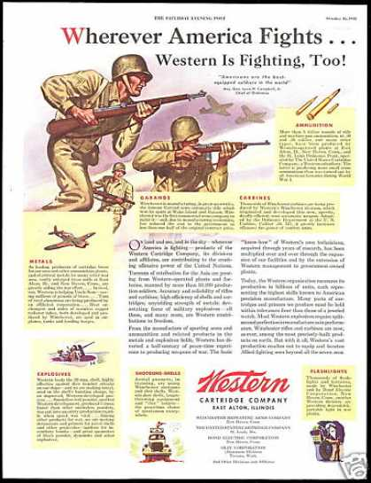 WWII US Soldier Western Cartridge Co (1943)