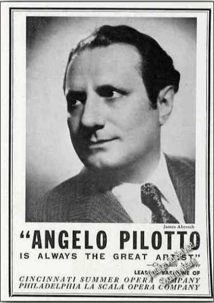 Angelo Pilotto Baritone Opera Trade (1944)