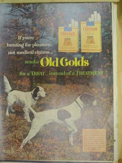 Old Gold Cigarettes. Hunting dog theme. Pointers (1953)