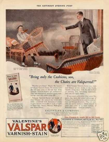 "Valentine's Valspar Varnish Ad ""Bring Onle The... (1925)"