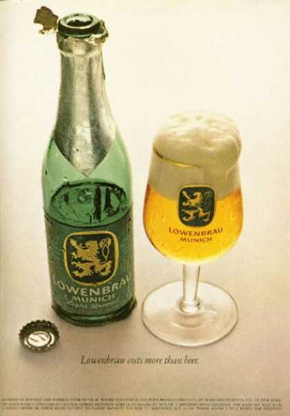 Lowenbrau Munich Beer Bottle Glass (1968)