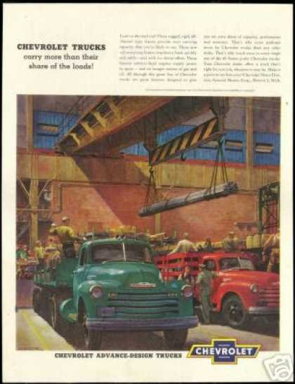 Big Chevrolet Work Truck Heick Art Vintage (1951)