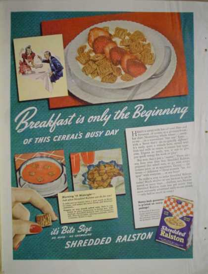 Shredded Ralston Breakfast Cereal (1941)