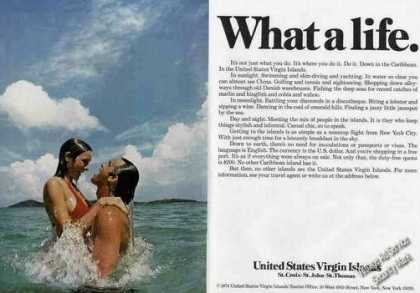 United States Virgin Island Couple In Ocean (1975)