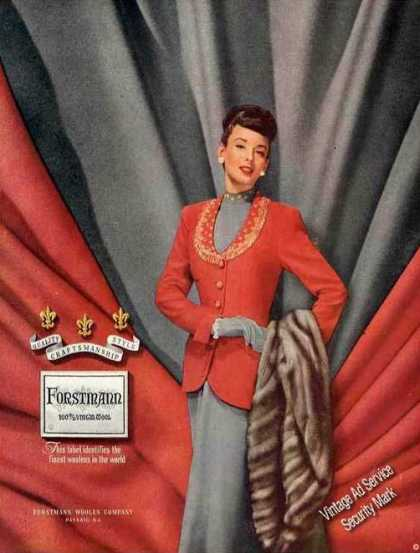Forstmann Woolens Passaic Nj Fashion (1948)