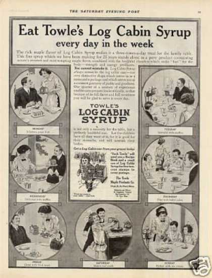 Towle's Log Cabin Syrup (1912)