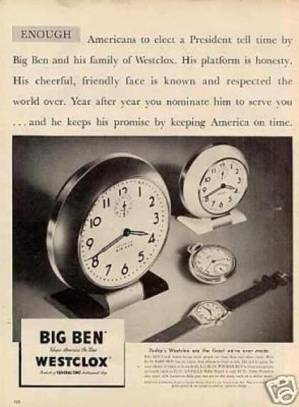 Westclox Big Ben Clocks (1948)