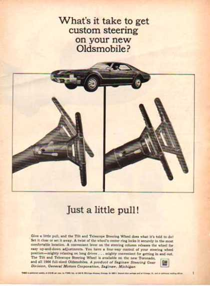 Oldsmobile Telescope Steering – Steering Feature for '66 (1966)