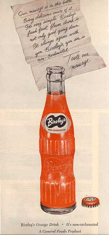 Bireley's Orange Drink (1955)