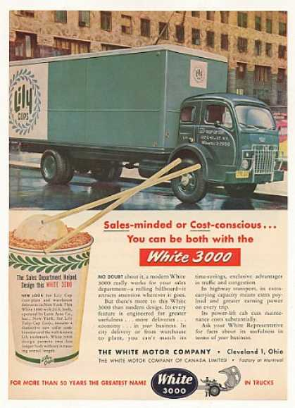 Lily Cups White 3000 Truck Photo (1953)