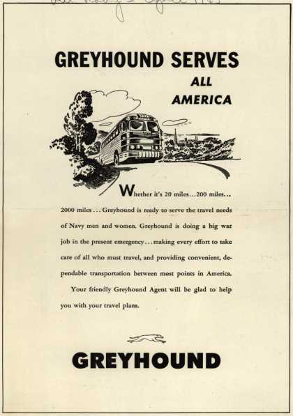 Greyhound – Greyhound Serves All America (1945)