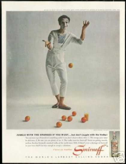Marcel Marceau Mime Photo Vintage Smirnoff (1962)