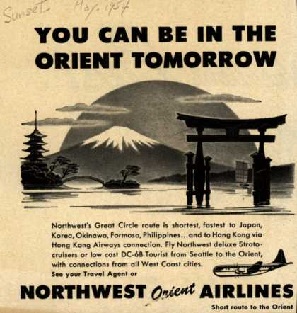 Northwest Airline's Orient – YOU CAN BE IN THE ORIENT TOMORROW (1954)