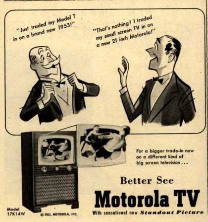 Motorola's TV 17K14W – Better See Motorola TV (1952)