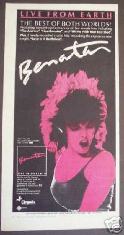 Pat Benatar Best of Both Worlds Record Promo (1983)