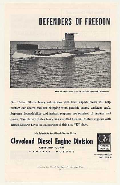 US Navy K1 Submarine GM Cleveland Diesel Engine (1953)
