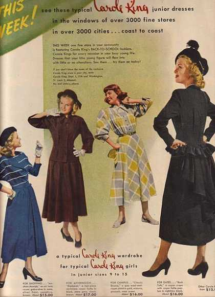 Carole King's Junior Dresses (1948)
