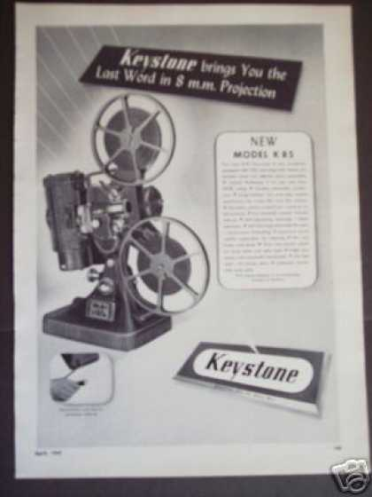 Keystone Model K 85 8mm Film Projector (1947)